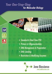 Molecular Biology Mini Catalog - Jena Bioscience