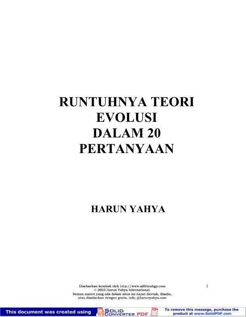 Runtuhnya Teori Evolusipdf