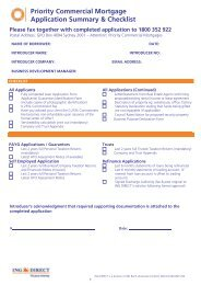 Priority Commercial Mortgage Application Summary & Checklist
