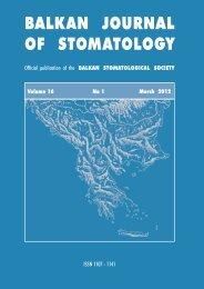 In Vitro - Balkan Stomatological Society