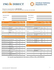 Introducer Stationery Requisition Form