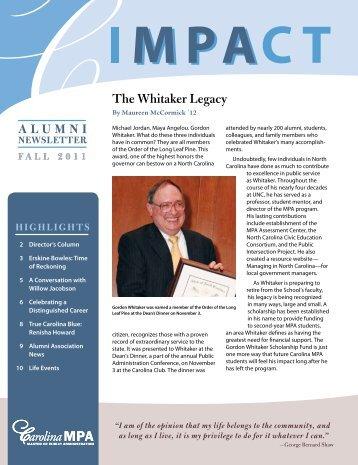 The Whitaker Legacy
