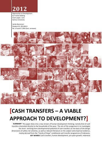 Cash transfers – a viable approach to development?