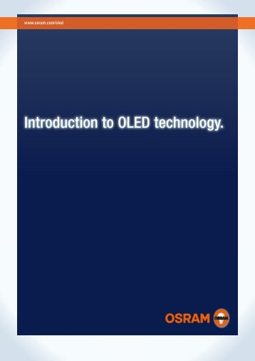 Introduction to OLED technology. - Osram