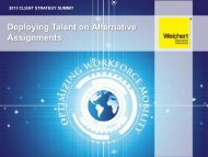 Deploying Talent on Alternative Assignments
