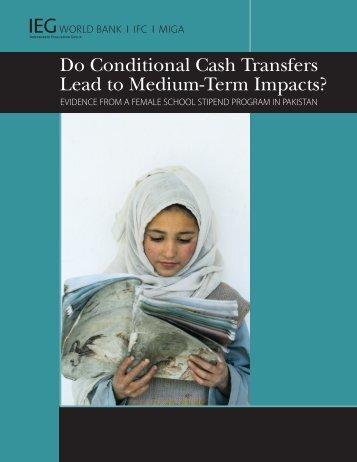 Do Conditional Cash Transfers Lead to Medium-Term ... - World Bank