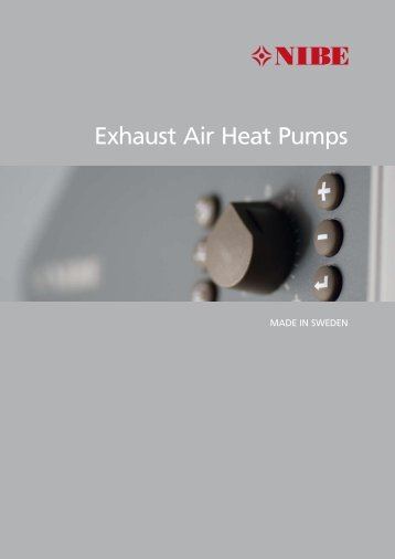 Exhaust Air Heat Pumps