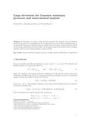 Large deviations for Gaussian stationary processes and semi-classical analysis