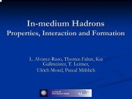In-medium Hadrons - INFN