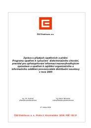 Zpráva o přijatých opatřeních a plnění Programu ... - ČEZ Distribuce