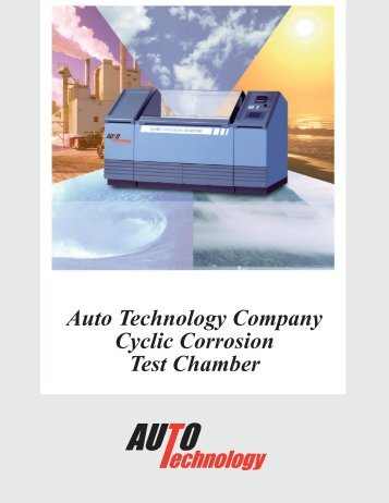 Cyclic Corrosion Test Chamber - Auto Technology Company