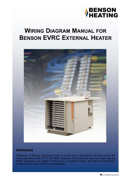 [DIAGRAM_3US]  WIRING DIAGRAM MANUAL BENSON EVRC EXTERNAL HEATER | Industrial Heaters Wiring Diagram |  | Yumpu