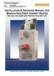 BENSON GAS FIRED CABINET HEATER