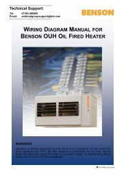 WIRING DIAGRAM MANUAL BENSON OUH OIL FIRED HEATER