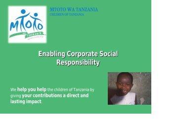 Enabling Corporate Social Responsibility