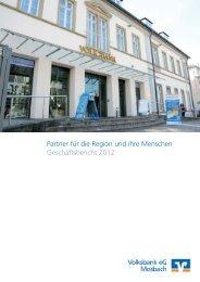 Partner für die Region und ihre Menschen Geschäftsbericht 2012