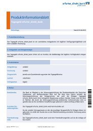 Produktinformationsblatt Kursrisiko/Zinsänderungsrisiko Fremdwährungsrisiko