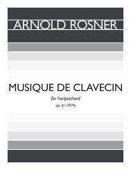 Rosner - Musique de Clavecin, op. 61