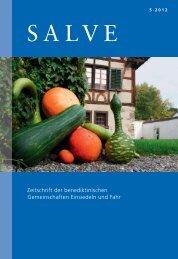Zeitschrift der benediktinischen Gemeinschaften ... - Zeitschrift Salve