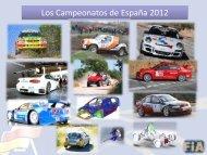 Novedades campeonatos 2012