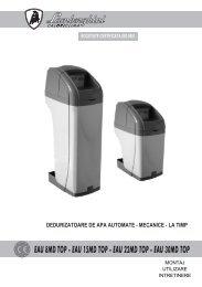 STATIE DEDURIZARE EAU 8MD TOP - Manual de ... - Termoplus