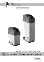 STATIE DED. EAU 8 EVT BIOS TOP - Manual de instalare - Termoplus