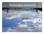 Psychological Explanation - Benjamin D. Young