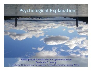 Psychological Explanation - Benjamin D. Young