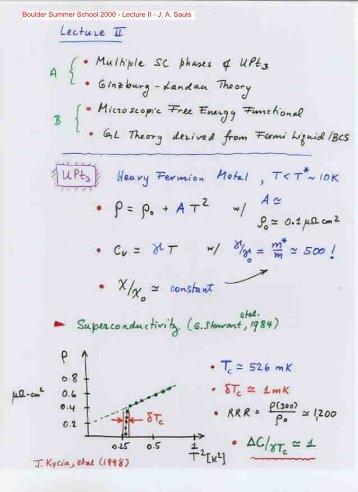Ginzburg-Landau Theory of Unconventional ... - Sauls