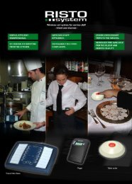 Wireless cell system for service staff - Risto System