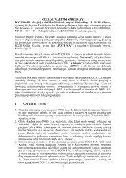 1 OGÓLNE WARUNKI SPRZEDAśY POCH Spółki Akcyjnej z ...