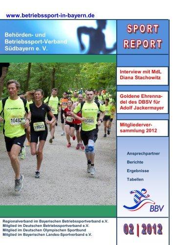 Sport Report 2 / 2012 - Betriebssport in Bayern