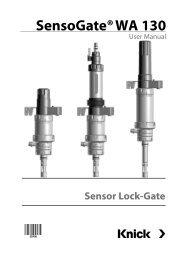 SensoGate WA 130, User Manual