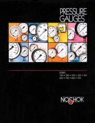 NOSHOK Pressure Gauges Catalog - Goodyear