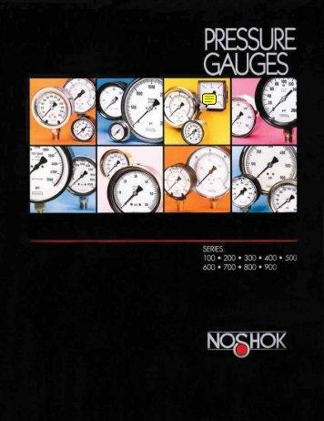 NOSHOK Pressure Gauges Catalog - Goodyear