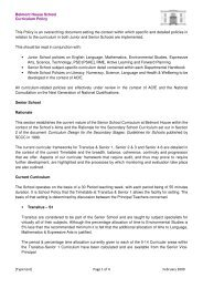 Belmont House School Curriculum Policy [Type text] Page 1 of 4 ...