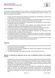 Belmont House School Policy for the Induction of New Staff Page 1 ...