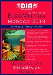 Pre-Conference Tutorials, Monday, March 8, 2010, 09:00