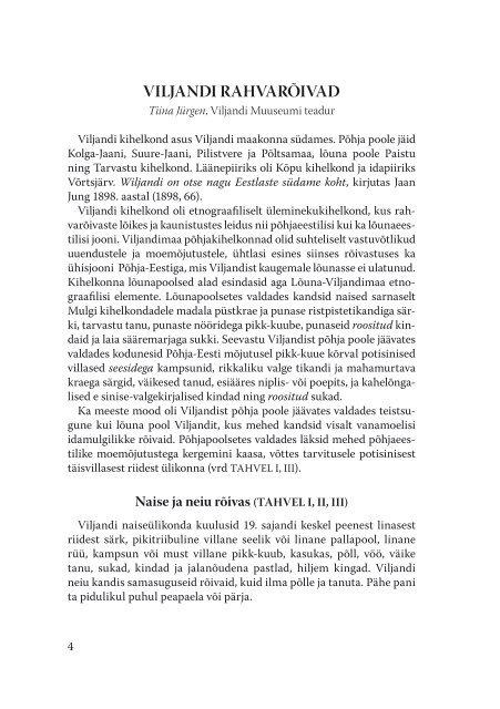32b2e2f605d VILJANDI RAHVARÃ•IVAD - Viljandi Muuseum - Viljandimaa