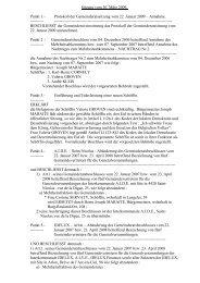 Protokoll der Gemeinderatssitzung vom 22. Januar 2009 – Annahme.