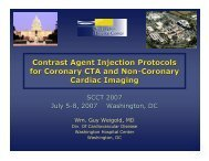 Contrast Agent Injection Protocols for Coronary CTA and Non ...