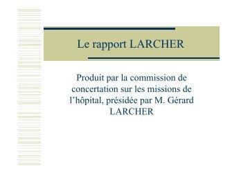 Le rapport LARCHER