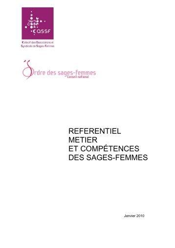 REFERENTIEL METIER ET COMPÉTENCES DES SAGES-FEMMES 2010SF