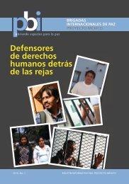 Defensores de derechos humanos detrás de las rejas