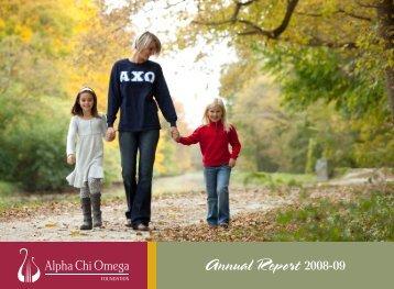 Annual Report 2008-09 - Alpha Chi Omega