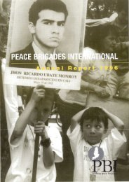 1996 PBI Annual Review (pdf 0.9 MB) - Peace Brigades International