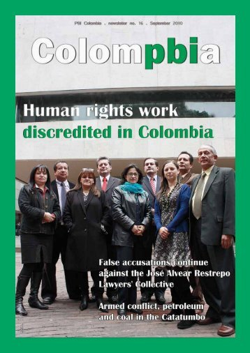 Human rights work discredited in Colombia - PBI Colombia
