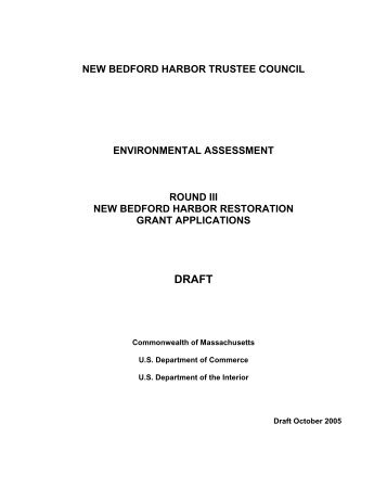 new bedford harbor trustee council environmental assessment ...