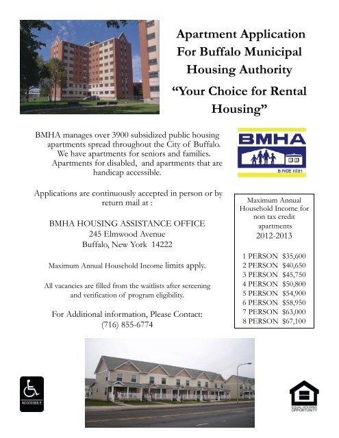 public housing waiting list application - City of Buffalo