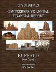 City of Buffalo Comprehensive Annual Financial Report 2011
